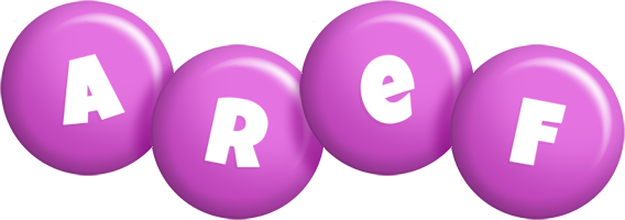 Aref candy-purple logo