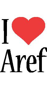 Aref i-love logo