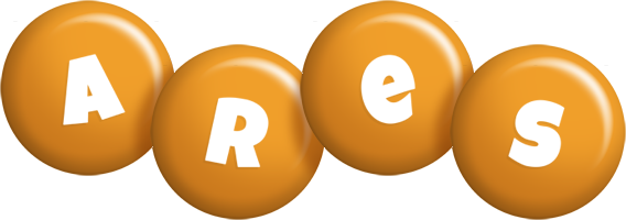 Ares candy-orange logo