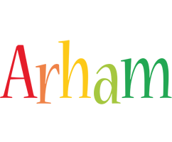 Arham birthday logo