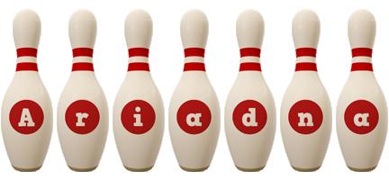 Ariadna bowling-pin logo