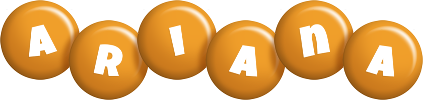 Ariana candy-orange logo