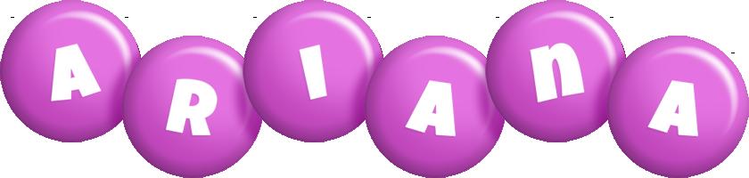 Ariana candy-purple logo