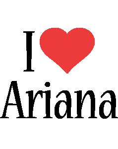 Ariana i-love logo