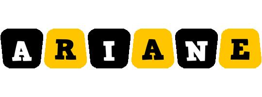Ariane boots logo