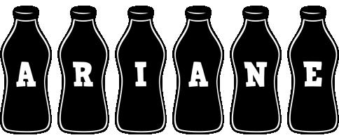 Ariane bottle logo