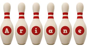 Ariane bowling-pin logo