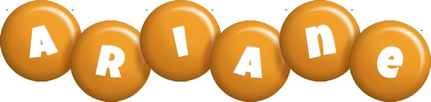Ariane candy-orange logo