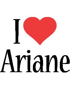 Ariane i-love logo