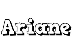 Ariane snowing logo