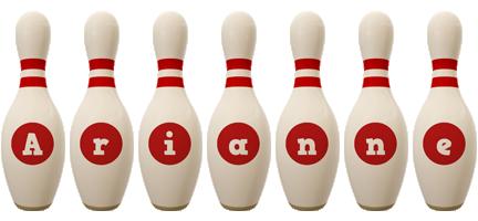 Arianne bowling-pin logo