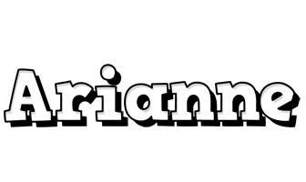 Arianne snowing logo