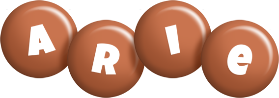 Arie candy-brown logo