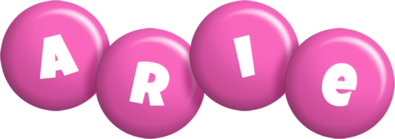 Arie candy-pink logo