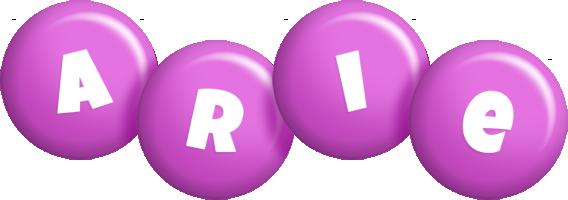 Arie candy-purple logo