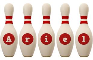 Ariel bowling-pin logo