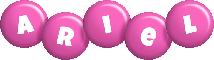 Ariel candy-pink logo