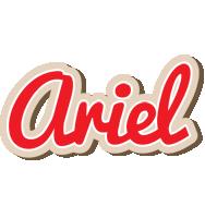 Ariel chocolate logo