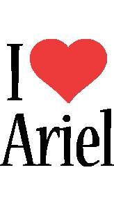 Ariel i-love logo