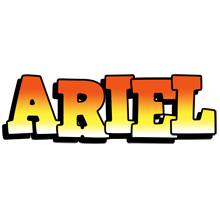 Ariel sunset logo