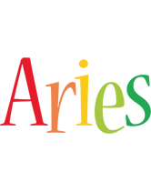 Aries birthday logo