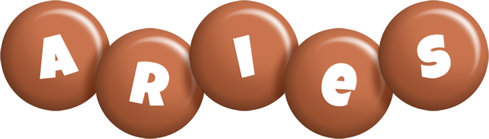 Aries candy-brown logo