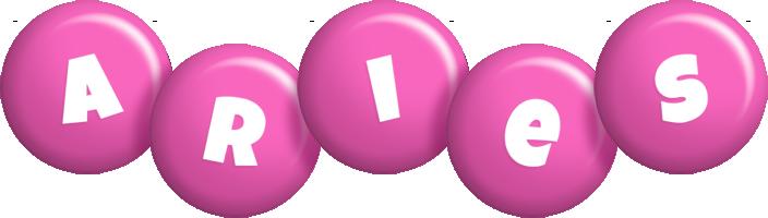 Aries candy-pink logo