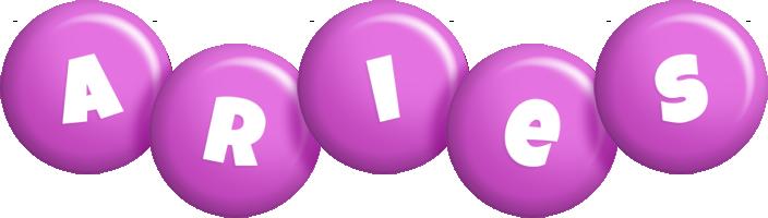 Aries candy-purple logo