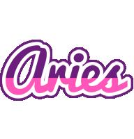 Aries cheerful logo