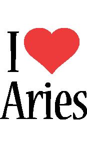 Aries i-love logo