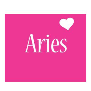 Aries love-heart logo