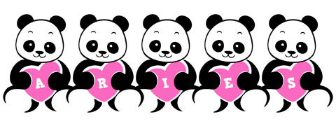 Aries love-panda logo