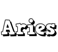 Aries snowing logo