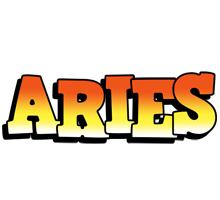 Aries sunset logo