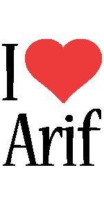 Arif i-love logo