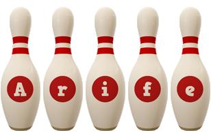 Arife bowling-pin logo