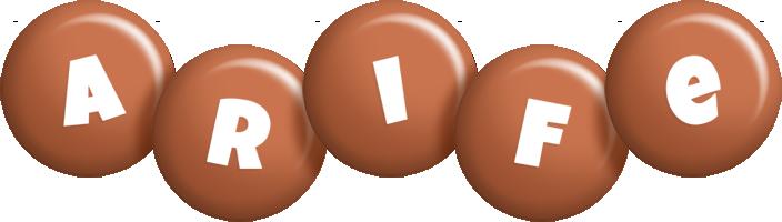 Arife candy-brown logo
