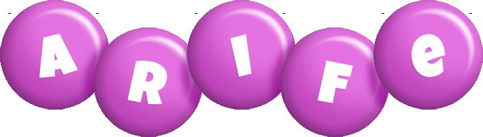 Arife candy-purple logo