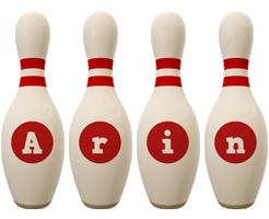 Arin bowling-pin logo