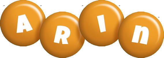 Arin candy-orange logo