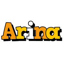 Arina cartoon logo