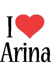 Arina i-love logo