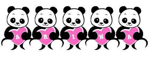Arina love-panda logo