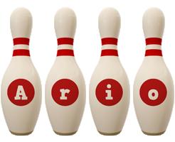 Ario bowling-pin logo