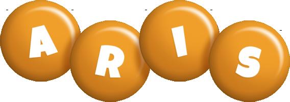 Aris candy-orange logo