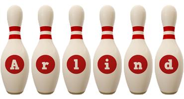 Arlind bowling-pin logo