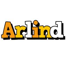 Arlind cartoon logo