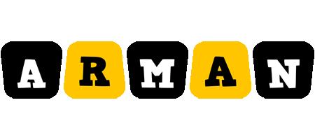 Arman boots logo