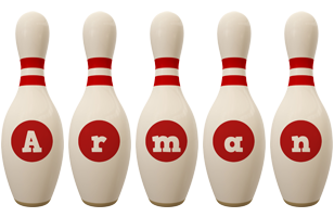 Arman bowling-pin logo