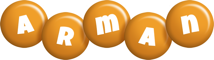 Arman candy-orange logo